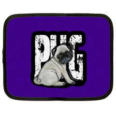 Pug Netbook Case (xxl)  by Valentinaart
