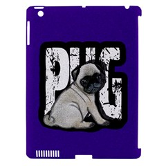 Pug Apple Ipad 3/4 Hardshell Case (compatible With Smart Cover) by Valentinaart