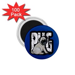 Pug 1 75  Magnets (100 Pack)  by Valentinaart