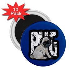 Pug 2 25  Magnets (10 Pack)  by Valentinaart