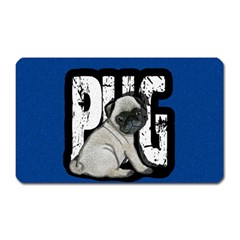 Pug Magnet (rectangular) by Valentinaart