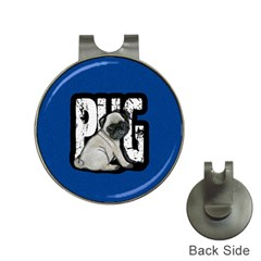 Pug Hat Clips With Golf Markers by Valentinaart
