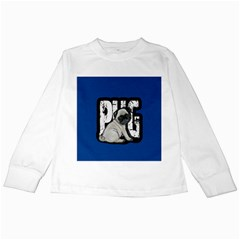 Pug Kids Long Sleeve T Shirts by Valentinaart