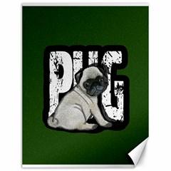 Pug Canvas 12  x 16   by Valentinaart