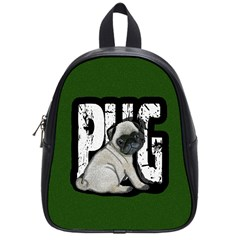 Pug School Bags (small)  by Valentinaart