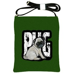 Pug Shoulder Sling Bags by Valentinaart