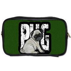 Pug Toiletries Bags by Valentinaart