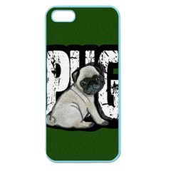 Pug Apple Seamless Iphone 5 Case (color) by Valentinaart