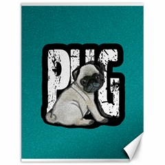 Pug Canvas 12  X 16   by Valentinaart