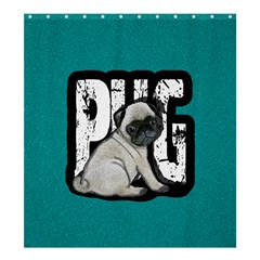 Pug Shower Curtain 66  X 72  (large)  by Valentinaart