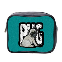 Pug Mini Toiletries Bag 2 Side by Valentinaart