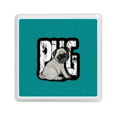 Pug Memory Card Reader (square)  by Valentinaart
