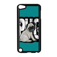 Pug Apple Ipod Touch 5 Case (black) by Valentinaart