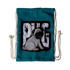 Pug Drawstring Bag (small) by Valentinaart