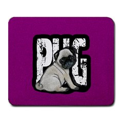 Pug Large Mousepads by Valentinaart