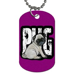 Pug Dog Tag (two Sides) by Valentinaart