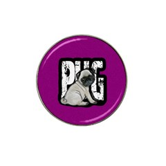 Pug Hat Clip Ball Marker by Valentinaart