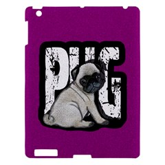 Pug Apple Ipad 3/4 Hardshell Case by Valentinaart