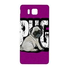 Pug Samsung Galaxy Alpha Hardshell Back Case by Valentinaart