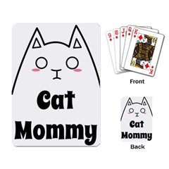 Love My Cat Mommy Playing Card by Catifornia