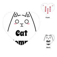 Love My Cat Mommy Playing Cards (heart)  by Catifornia