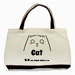 Love My Cat Mommy Basic Tote Bag by Catifornia