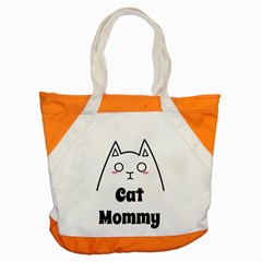 Love My Cat Mommy Accent Tote Bag by Catifornia