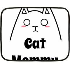 Love My Cat Mommy Fleece Blanket (mini) by Catifornia