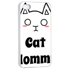 Love My Cat Mommy Apple Iphone 4/4s Seamless Case (white) by Catifornia