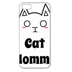 Love My Cat Mommy Apple Seamless Iphone 5 Case (clear) by Catifornia