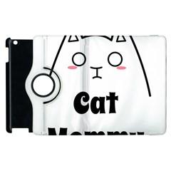 Love My Cat Mommy Apple Ipad 3/4 Flip 360 Case by Catifornia