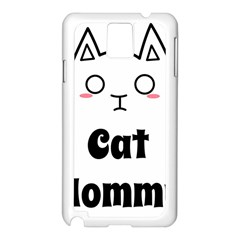 Love My Cat Mommy Samsung Galaxy Note 3 N9005 Case (white) by Catifornia