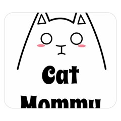Love My Cat Mommy Double Sided Flano Blanket (small)  by Catifornia