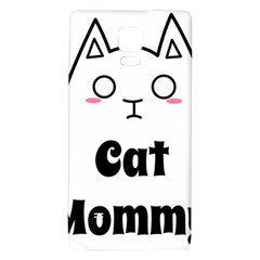 Love My Cat Mommy Galaxy Note 4 Back Case by Catifornia