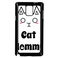Love My Cat Mommy Samsung Galaxy Note 4 Case (black) by Catifornia