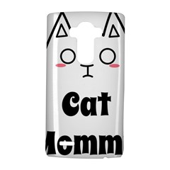 Love My Cat Mommy Lg G4 Hardshell Case by Catifornia