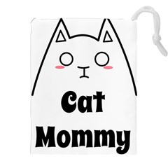 Love My Cat Mommy Drawstring Pouches (xxl) by Catifornia