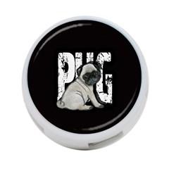 Pug 4 Port Usb Hub (one Side) by Valentinaart