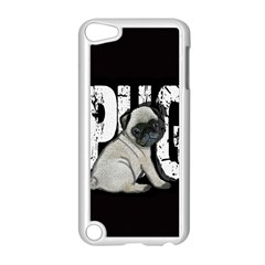 Pug Apple Ipod Touch 5 Case (white) by Valentinaart