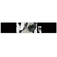 Pug Flano Scarf (large) by Valentinaart
