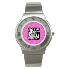 Pug Stainless Steel Watch by Valentinaart