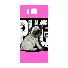 Pug Samsung Galaxy Alpha Hardshell Back Case by Valentinaart