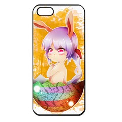 Easter Bunny Girl Apple Iphone 5 Seamless Case (black) by Catifornia
