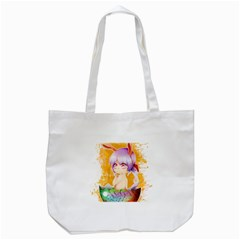 Easter Bunny Girl Tote Bag (white) by Catifornia
