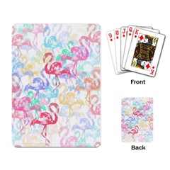 Flamingo Pattern Playing Card by Valentinaart