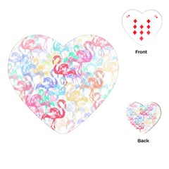 Flamingo Pattern Playing Cards (heart)  by Valentinaart