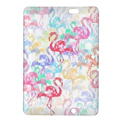 Flamingo Pattern Kindle Fire Hdx 8 9  Hardshell Case by Valentinaart