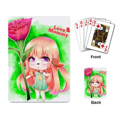 Happy Mother s Day Furry Girl Playing Card by Catifornia