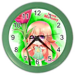 Happy Mother s Day Furry Girl Color Wall Clocks by Catifornia