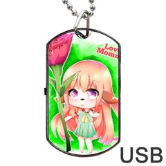 Happy Mother s Day Furry Girl Dog Tag Usb Flash (two Sides) by Catifornia